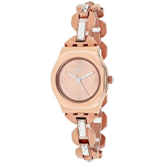 Swatch Women's YSG136G Octoshine Round Rose Gold-tone Stainless Steel Bracelet Watch