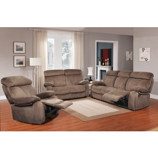 Barclay Dark Walnut Reclining Sofa Set