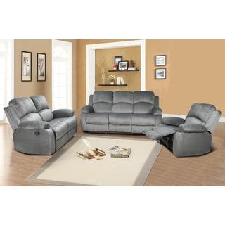 Odessa Light Grey Reclining Sofa Set