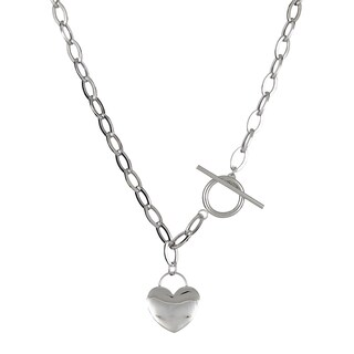 Decadence 14K Gold 17-inch Heart Toggle Necklace (2 options available)