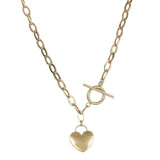Decadence 14K Gold 17-inch Heart Toggle Necklace|https://ak1.ostkcdn.com/images/products/11320033/P18297469.jpg?impolicy=medium