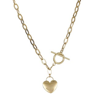 Decadence 14K Gold 17-inch Heart Toggle Necklace