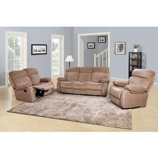 Barclay Camel Reclining Sofa Set