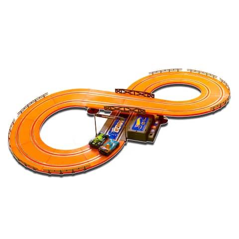 Hot Wheels Batter Operated 9.3-foot Slot Track - Orange - 9.3'
