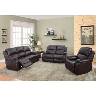 Dark Brown Odessa Reclining Sofa Set