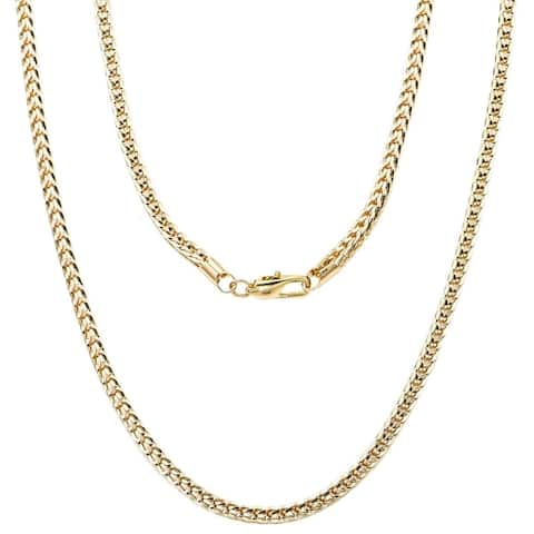 "'FRANCO' Yellow Gold or Silver Overlay Chain by Simon Frank Designs(24"" ,30"" & 36"")"