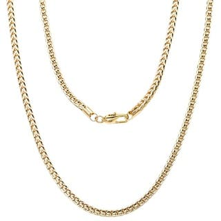 """'FRANCO' Yellow Gold or Silver Overlay Chain by Simon Frank Designs(24"""" ,30"""" & 36"""")"""