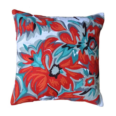 Cottage Home Kia Cotton 17 Inch Throw Pillow