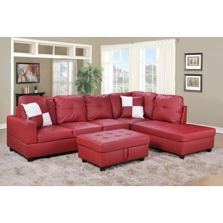 Urbania Red Right Hand Facing Sectional