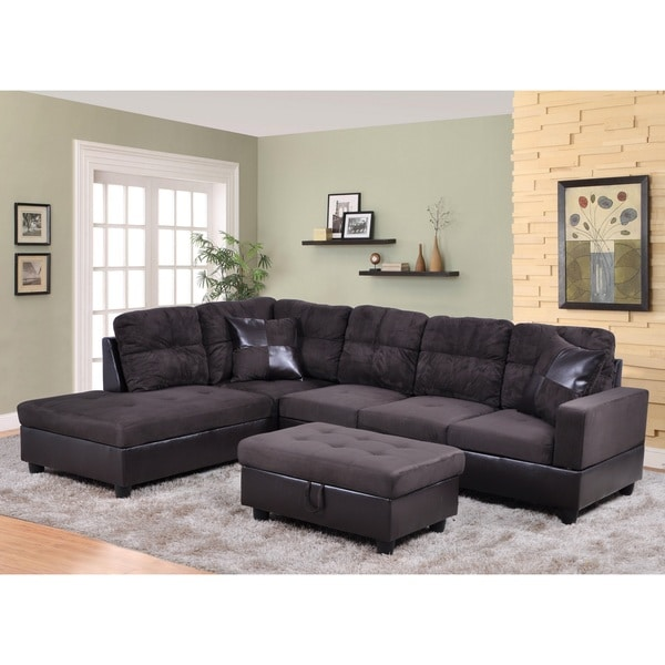 avellino dark chocolate left hand facing sectional free shipping