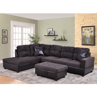 Avellino Dark Chocolate Left Hand Facing Sectional