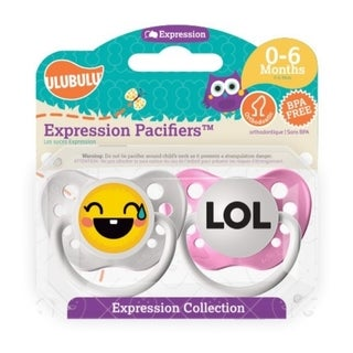 Personalized Pacifiers LOL Emoji 0-6 Months Girl