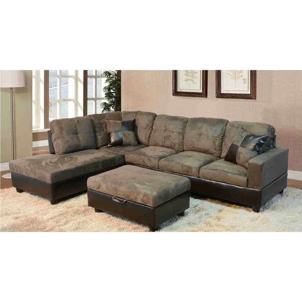 Avellino Light Brown Left Hand Facing Sectional Free