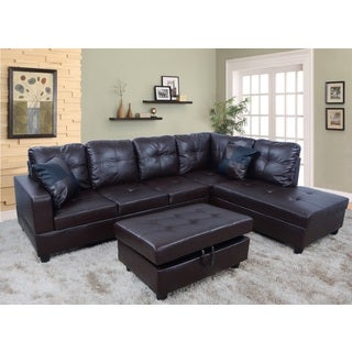 Urbania Dark Chocolate Right Hand Facing Sectional