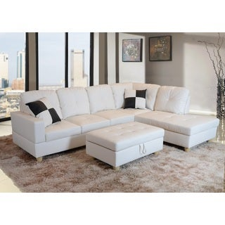 Urbania White Right Hand Facing Sectional