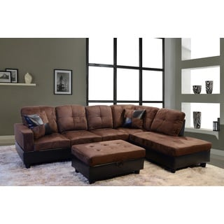 Avellino Dark Brown Right Hand Facing Sectional