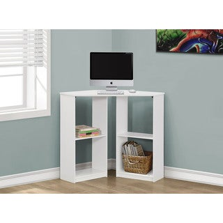 Monarch White Corner 36-inch Computer Desk