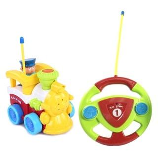 Cartoon Series Toddler Yellow R/C Radio Control Train