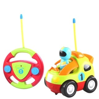 Cartoon Series Toddler Green R/C Radio Control Lil' Racer Car