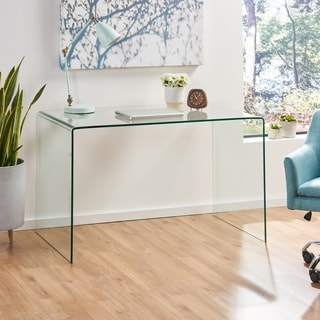 Ramona Glass Computer Desk by Christopher Knight Home