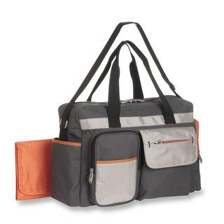 Graco Tangerine Smart Organizer System Duffle Diaper Bag Grey/ Orange
