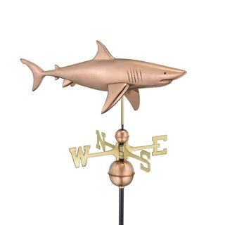 Shark Weathervane Polished Copper by Good Directions