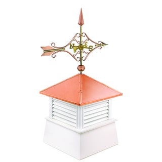 18-inch Square Manchester Vinyl Cupola with Cottage Victorian Arrow by Good Directions