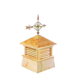 26-inch Square Kent Wood Cupola with Cottage Victorian Arrow by Good Directions