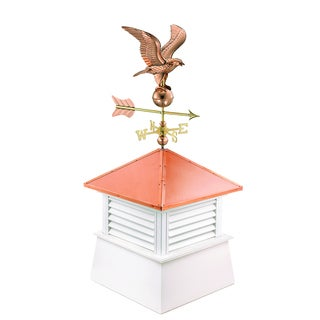 26-inch Square Manchester Vinyl Cupola with Cottage Eagle by Good Directions - 2126mv-8815p