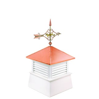 26-inch Square Manchester Vinyl Cupola with Cottage Victorian Arrow by Good Directions