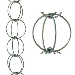 Double Link Rain Chain Blue Verde Copper by Good Directions