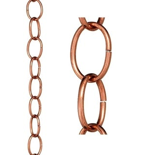 Small Single Link Rain Chain Polished Copper by Good Directions