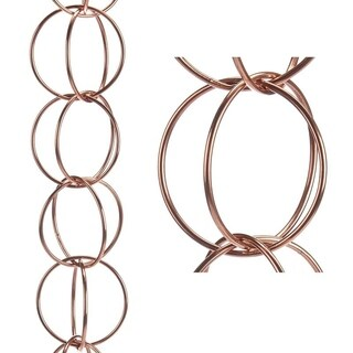 Double Link Rain Chain Polished Copper by Good Directions