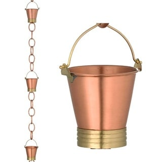Pails Rain Chain Brushed Copper by Good Directions
