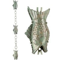 Fish Rain Chain Blue Verde Copper by Good Directions