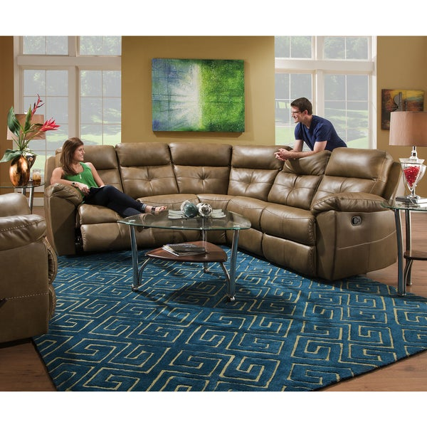 Simmons Upholstery Bradford Toast Motion Sectional  sc 1 st  Overstock.com : simmons sectional - Sectionals, Sofas & Couches