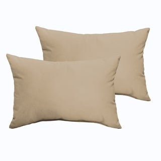 Sloane Beige 12 x 24-inch Indoor/ Outdoor Knife Edge Pillow Set