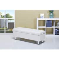 Frankfort White Storage Ottoman