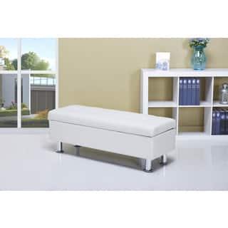 white living room furniture sets. Frankfort White Storage Ottoman Living Room Furniture Sets For Less  Overstock com