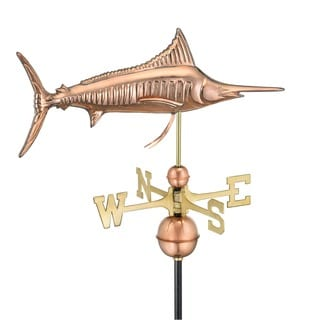 Marlin Weathervane Polished Copper by Good Directions