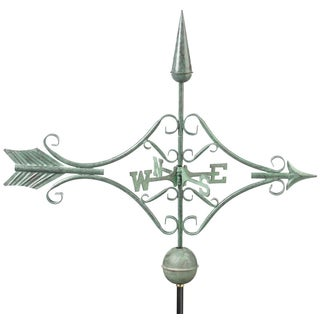 Victorian Arrow Weathervane Blue Verde Copper by Good Directions