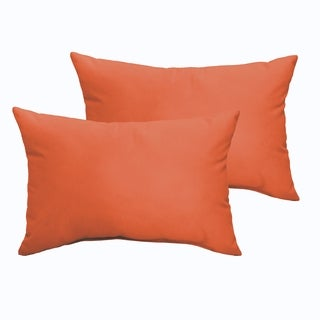 Sloane Mandarin Orange 12 x 24-inch Indoor/ Outdoor Knife Edge Pillow Set