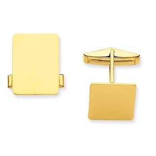 Versil 14k Yellow Gold Rectangular Cuff Links