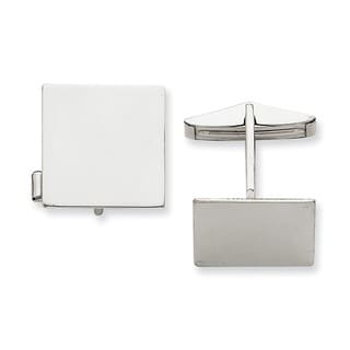 Versil 14k White Gold Square Cuff Links