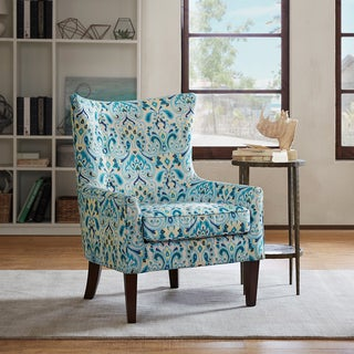 Madison Park Kara Shelter Wing Chair --Aqua Color Option