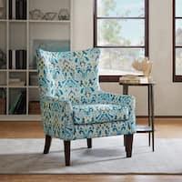 Madison Park Kara Shelter Wing Chair --Aqua Color Option