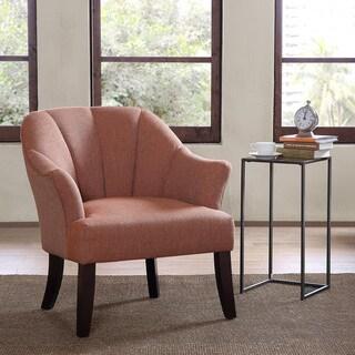 Madison Park Riya Channel Orange/ Multi Back Accent Chair