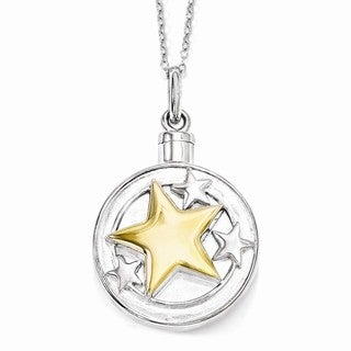 Versil Sterling Silver & Gold-plated Your Brightest Star Ash Holder Necklace