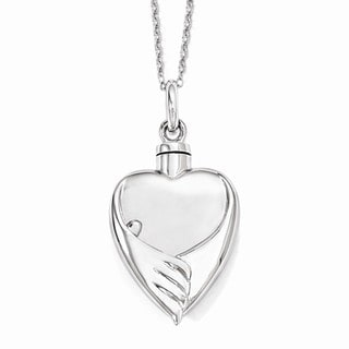 Versil Sterling Silver Forever My Baby Ash Holder Necklace