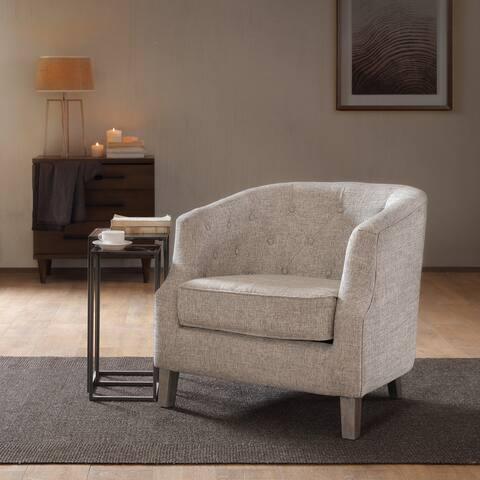 Madison Park Aden Chesterfield Barrel Chair